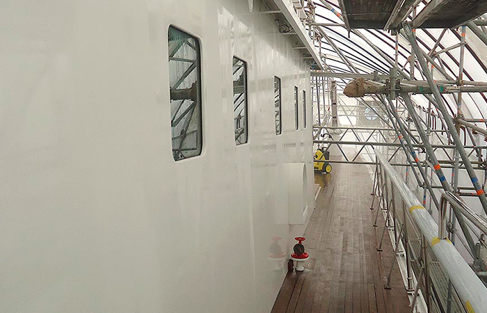 BenyMar Yachtpaint has worked for the M/Y ALBACORA