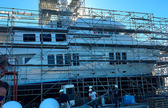 BenyMar Yachtpaint has worked for the M/Y BONUM